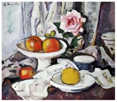 Apples In a White Fruit Bowl By George Leslie Hunter - EG26660516