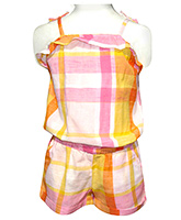 Beebay - Multi Color Checks Jumpsuit