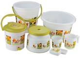 Polyset Flora Printed Bathroom Set
