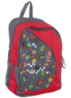 School Bag Red & Grey 32 x 21 x 45 cm, A red and grey school bag with Angr...