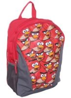 School Bag 27 x 15.5 x 40.5 cm, Red bag with cute Angry Bird t...