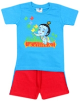 Little Krishna - Half Sleeves T- Shirt And Shorts Set