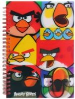 Angry Birds - 3D Spiral Notebook