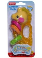 Fisher Price - Ocean Wonders Dumbell Seahorse Rattle