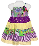 Infancy - Singlet Frock With Lace And Frill
