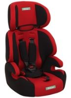 Fab N Funky High Back Car Seat Red N Black - Upto 14 Kg