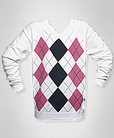 Boys Diamond Sweater - White