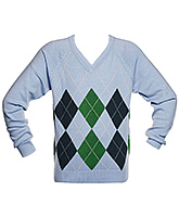 Boys Diamond Sweater - Blue