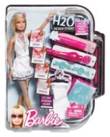 Barbie H2O Design Studio Barbie Doll 3 Years+, Transform Barbie's Wardrobe Over And Over ...