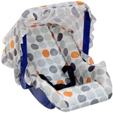 Fab N Funky - Grey Dot Print Carry Cot