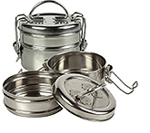 Sai 24 Carat Stainless Steel Tiffin Without Plate No 6