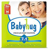 Babyhug 7 in 1 Premium Baby Diapers Medium - 36 Pieces