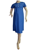 Mama &amp; Bebe - Half Sleeves Blue Dress