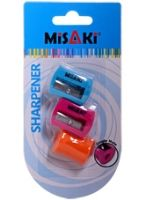 Misaki  - Single Pencil Sharperners  Set of 3