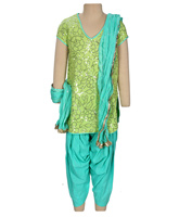 Biba - Half Sleeves Salwar Suit with Dupatta