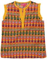 Biba - Sleeveless Printed Kurta