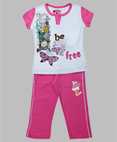 Proteens Bodycare - Printed Tshirt And Capri Set