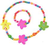Angel Glitter - Shining Star Wooden Beads Jewellery Set