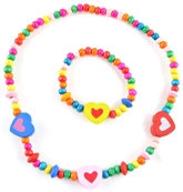 Angel Glitter - Mommy's Heart Wooden Beads Jewellery Set