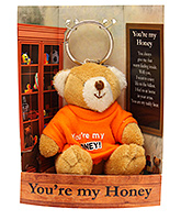 Archies You're My Honey Teddy Bear Keychain