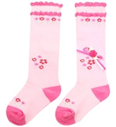 Cute Walk - Scalloped Socks With Bow