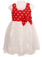 SAPS - Sleeveless Polka Party Wear Frock