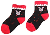 Cute Walk - Lace Style Bunny Design Socks