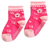Cute Walk - Pink Floral Design Socks