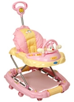 Fab N Funky -  Pink Musical Baby Walker With Toy Rabbit