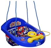 New Natraj - Blue Teddy Print Activity Swing