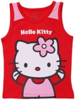 Hello Kitty - Sleeveless Top With Kitty Print
