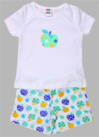 SAPS - White Tshirt With Printed Shorts Set