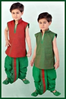 SAPS - Ethnic Green Dhoti Kurta