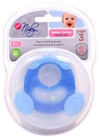 Nuby Softees - Silicon Teether Hard And Soft - 6 Months+