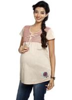 Buy Nine - Maternity Half Sleeves Top