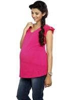 Buy Nine - Maternity Pink Jersey Top