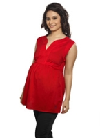 Nine Maternity Sleeveless Top With Belt