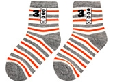 Cute Walk - Socks With Contrast Colored Socks