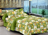 Cenizas Cotton Double Bed Sheet 170 - A
