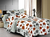 Cenizas Cotton Double Bed Sheet - 719 A