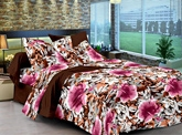 Cenizas Cotton Double Bed Sheet - 172 A