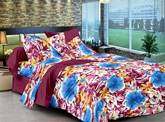 Cenizas Cotton Double Bed Sheet - 172 B