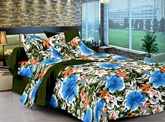 Cenizas Cotton Double Bed Sheet - 172 C