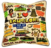 Eco Corner White Bangalore Cushion Cover 1796