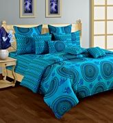 Swayam Cosmo 36 Printed Double Bed Sheet DBS11 1426