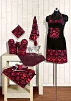 Swayam Kitchen Apron And Linen Set Black Mozart - KSN08-2521