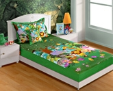 Swayam Digital Print Baby Bed Sheet Set - SKB-134 Jungle
