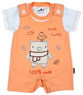Child World - Half Sleeves  Romper With Cute Applique