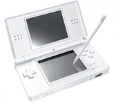 NDS Lite Portable Hand Game Silver 6 Years+, Off White Colored Slick Body Game For Your...