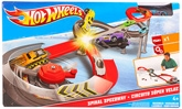 Red Spiral Speed Way Playset 4 Years +,  The ultimate in racing and crashing acti...